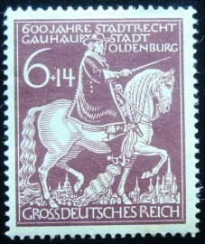 Selo postal da Alemanha Reich de 1945 Count Anton Günther of Oldenburg and Delmenhorst