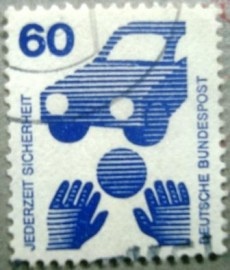Selo postal da Alemanha de 1971 Drinking and driving - 1081 U