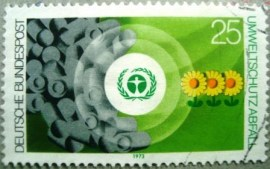 Selo postal da Alemanha de 1973 Environment protection - 774 U