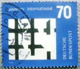 Selo postal da Alemanha de 1974 Amnesty International - 1150 U