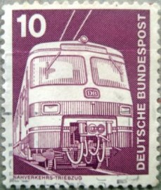 Selo postal da Alemanha de 1975 Commuter train ET 420/421 - 1171 U