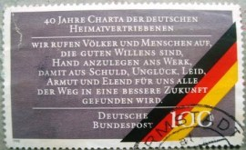 Selo postal da Alemanha de 1990 Charter of German Expellees - 1608 U