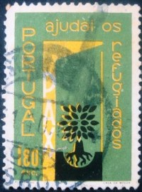 Selo postal de Portugal de 1960 World Refugee Year 1$80 - 850 U
