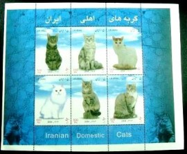 Selo postal do Iran de 2004 Iranian Domestic Cats
