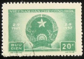 Selo postal do Vietnam de 1957 Democratic Republic of Vietnam