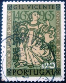 Selo postal de Portugal de 1965 Figures from Gil Vincente - 864 U