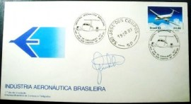 Envelope FDC Oficial de 1983 Embraer SP