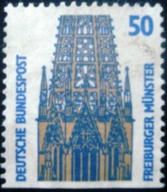 Selo fiscal da Alemanha de 1989 Tower of the Freiburg Minster - 1167 bv1 U