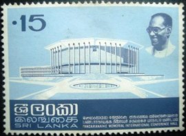 Selo postal do Sri Lanka de 1973 Memorial Hall - 477 N