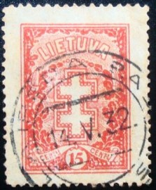 Selo postal da Lituânia de 1929 Cross and honorary wreath