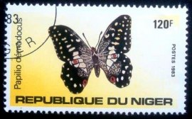 Selo postal do Niger de 1983 Citrus Swallowtail