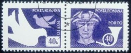 Selo postal da Romênia de 1974 Post and telecommunications 40