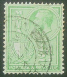 Selo postal de Malta de 1930 Inscribed POSTAGE & REVENUE ½