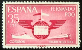 Selo postal de Fernando Poo de 1962 Day of the stamp