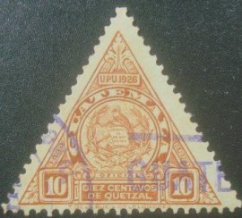 Selo postal da Guatemala de 1929 Coat of arms 10