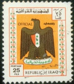 Selo postal do Iraque de 1975 National Coat of Arms