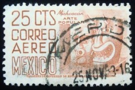 Selo postal do México de 1950 Michoacan Popular Art