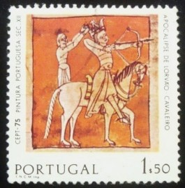 Selo postal de Portugal de 1975 C.E.P.T. Paintings