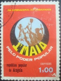 Selo postal de Angola de 1976 National Day of the Worker 610 U