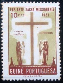 Selo postal da Guinea de 1953 Exposition of Mission-art