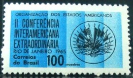 Selo postal do Brasil de 1965 Interamerican Conference