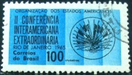 Selo postal do Brasil de 1965 Interamerican Conference - C 541 U