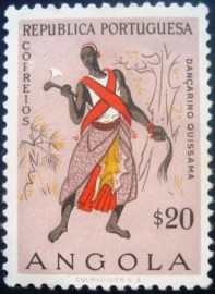 Selo postal de Angola de 1957 Dancer from Quibala 404 U