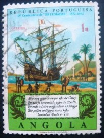 Selo postal de Angola de 1972 Galleon on Congo River 581 U