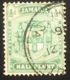 Selo postal da Jamaica de 1906 Issues of 1905-11 ½