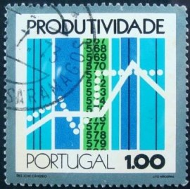 Selo postal de Portugal de 1973 Graph and computer tapes - 1196 U