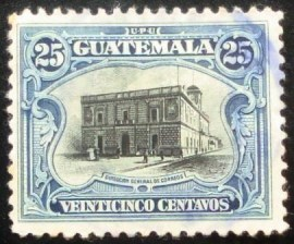 Selo postal da Guatemala de 1911 General Post Office 25c