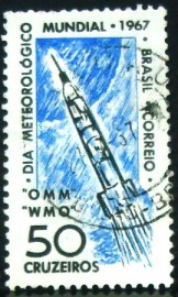 Selo postal do Brasil de 1967 Dia do Meteorógico - C 566 U