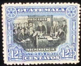 Selo postal da Guatemala de 1907 Declaration of Independence