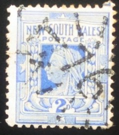 Selo postal de Nova Gales do Sul de 1905 Country images 2d