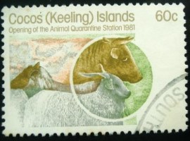 Selo postal Ilhas Coco 1981 Cow and sheep
