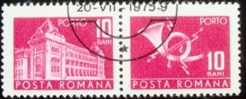 Se-tenant da Romênia de 1967 General Post Office 10