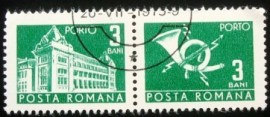 Se-tenant da Romênia de 1970 Post and telecommunications 3