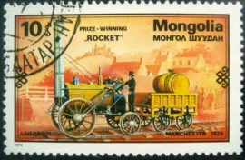 Selo postal Mongólia 1979 Steam locomotive