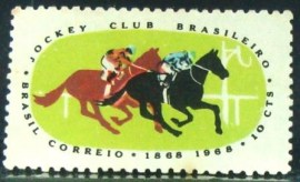 Selo postal do Brasil de 1968 Jockey Club