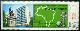 Selo postal do Iêmen de 1970 Chili 1962