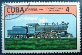 Selo postal Cuba 1984 Steam Locomotive