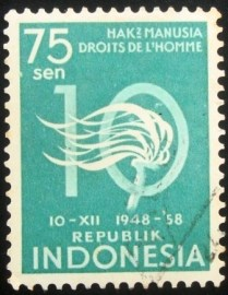 Selo postal da Indonésia de 1958 Declaration of Human Rights