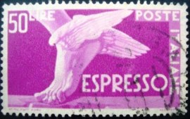 Selo postal Itália 1955 Winged Foot