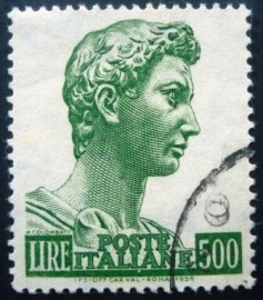 Selo postal Itália 1957 Head of the statue of St. George