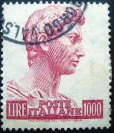 Selo postal Itália 1965 Head of the statue of St. George