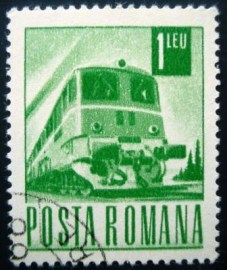 Selo postal Romênia 1968 Diesel-electric train