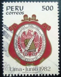 Selo postal do Peru de 1982 Congress of Latin Notaries Lima