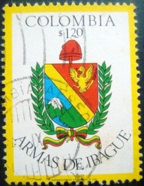 Selo postal da Colômbia de 1976 Arms of Ibague