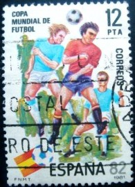 Selo postal da Espanha de 1981 Football World Cup Spain ´82