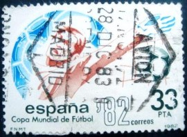Selo postal da Espanha de 1982 Football World Cup Spain 82